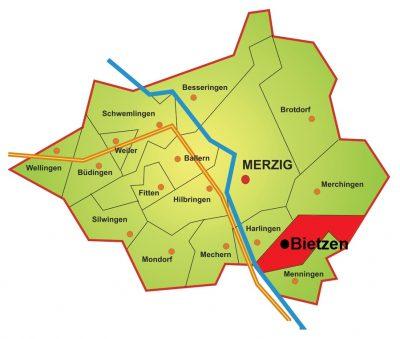 Karte Stadtteil Bietzen