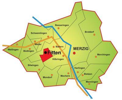 Karte Stadtteil Fitten