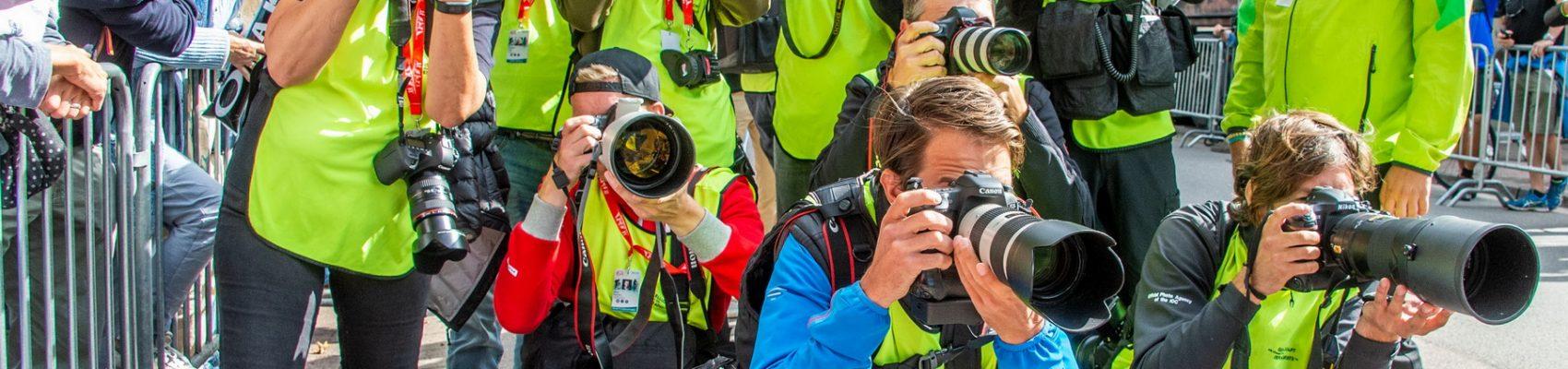 Fotografen bei der Deutschland Tour in Merzig