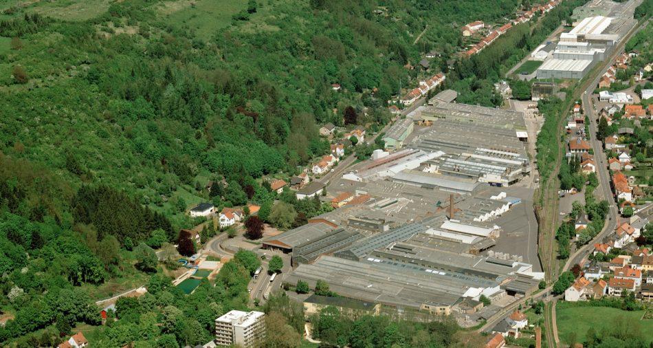 Luftaufnahme vom Gewerbegebiet Rotensteinerweg