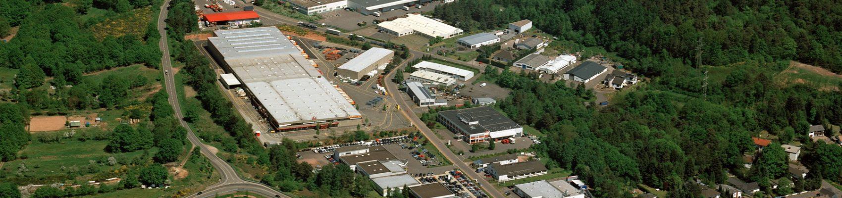 Luftaufnahme vom Gewerbegebiet Siebend