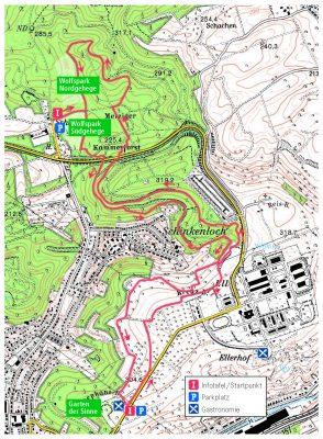 Karte Wolfsweg