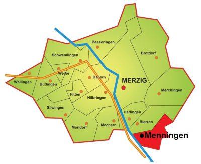 Karte Stadtteil Menningen