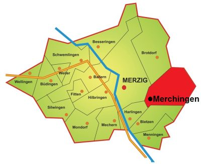 Karte Stadtteil Merchingen