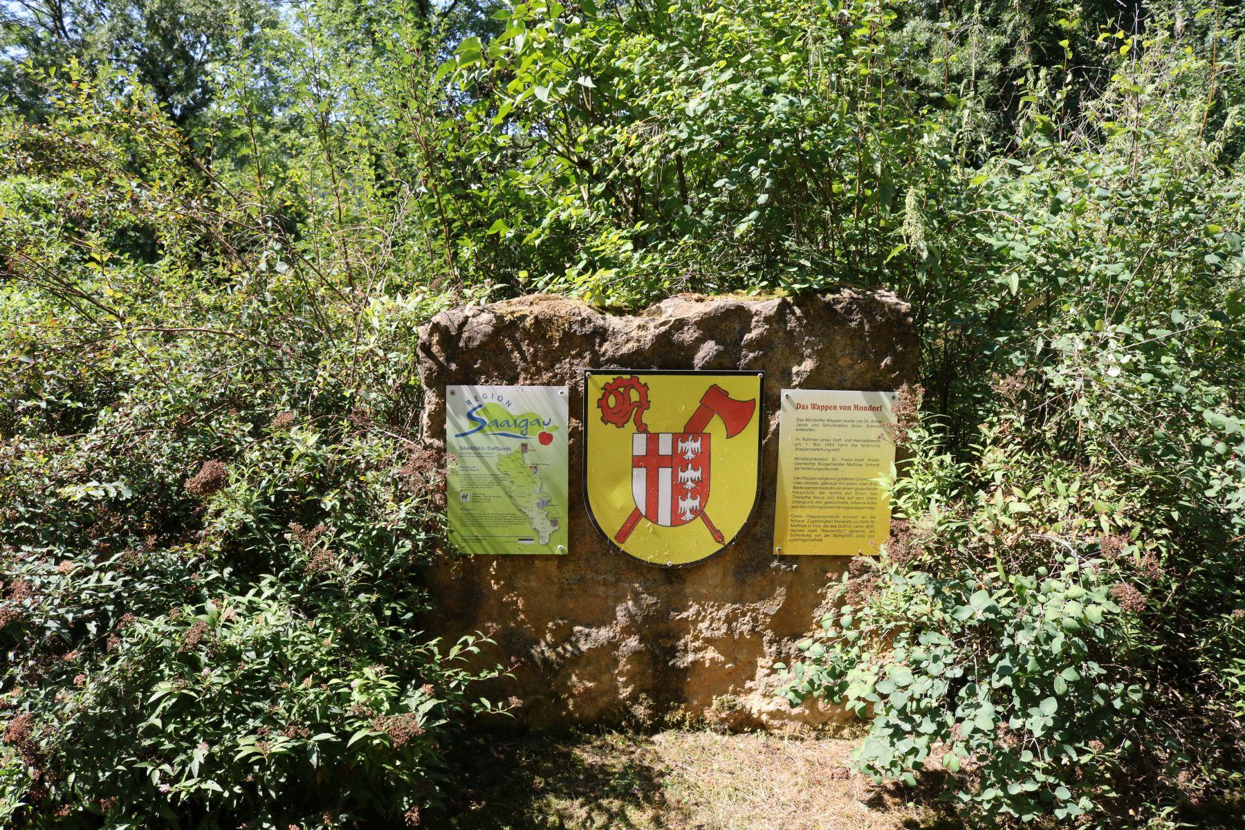Mondorf Stein mit Wappen