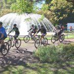 Radfahrergruppe beim Saar Pedal