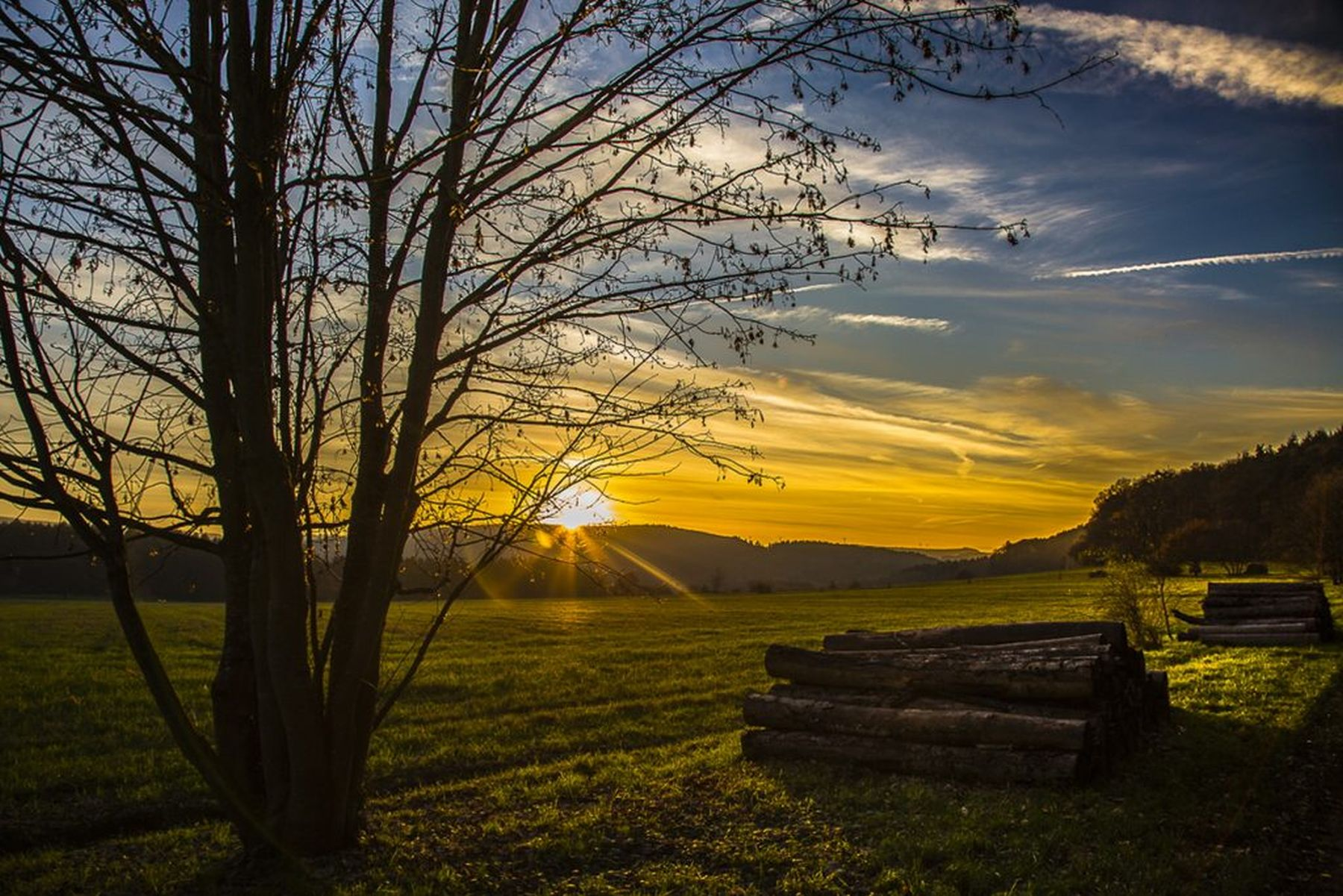 Sonnenuntergang bei Besseringen