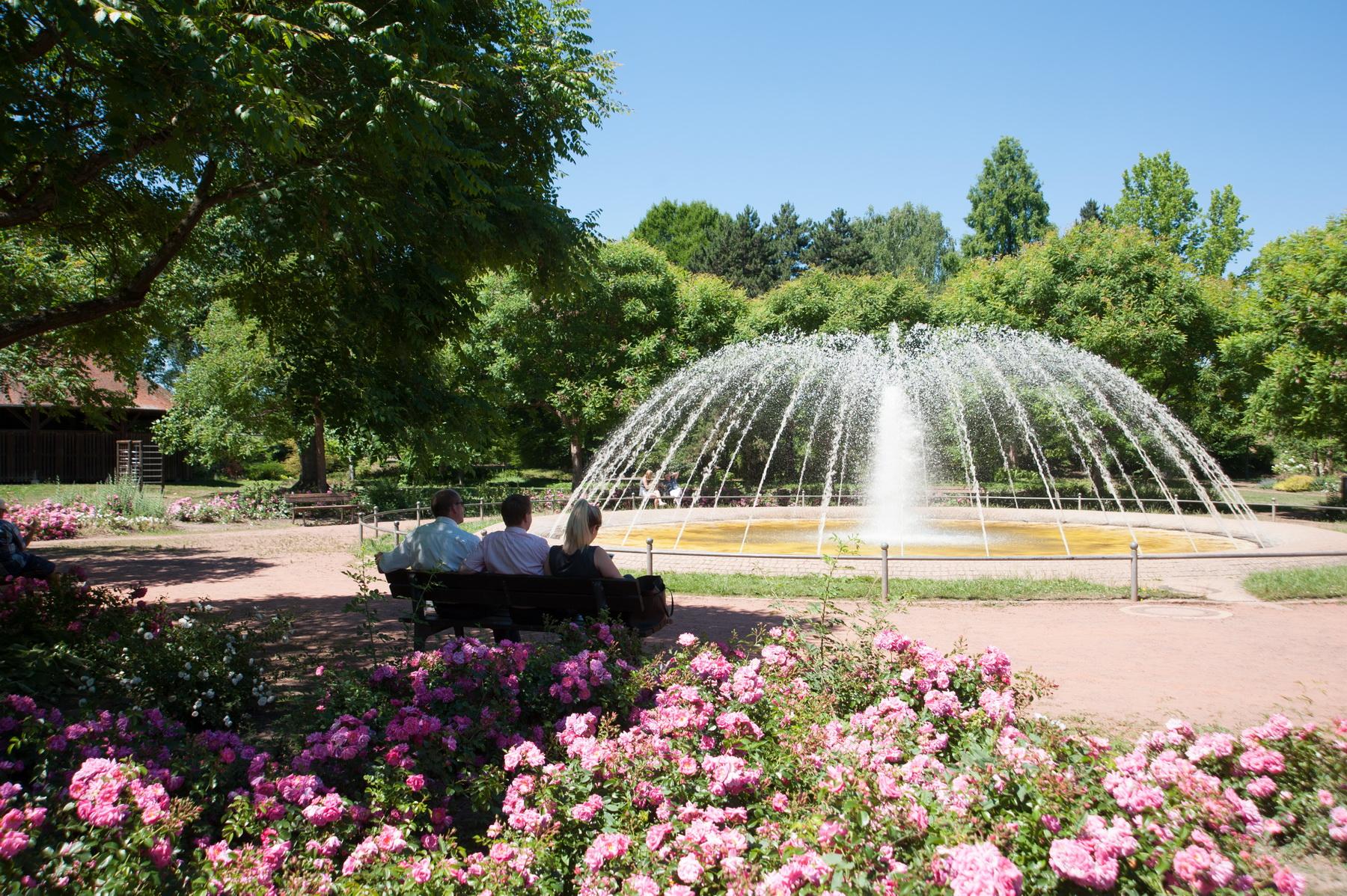 Brunnen im Merziger Stadtpark