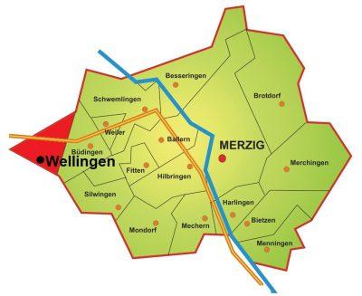 Karte Stadtteile Wellingen