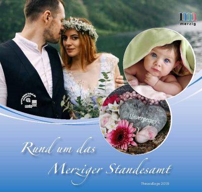 Cover der Broschüre über das Merziger Standesamt