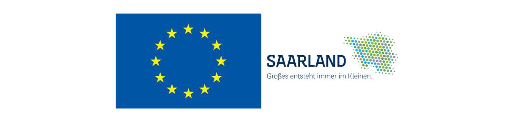 Logo der EU und des Saarlandes