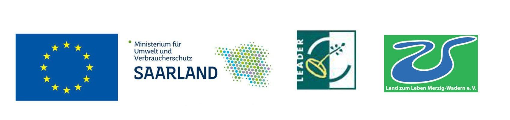 Logos: EU, Ministerium für Umwelt und Verbraucherschutz, LAG und Leader