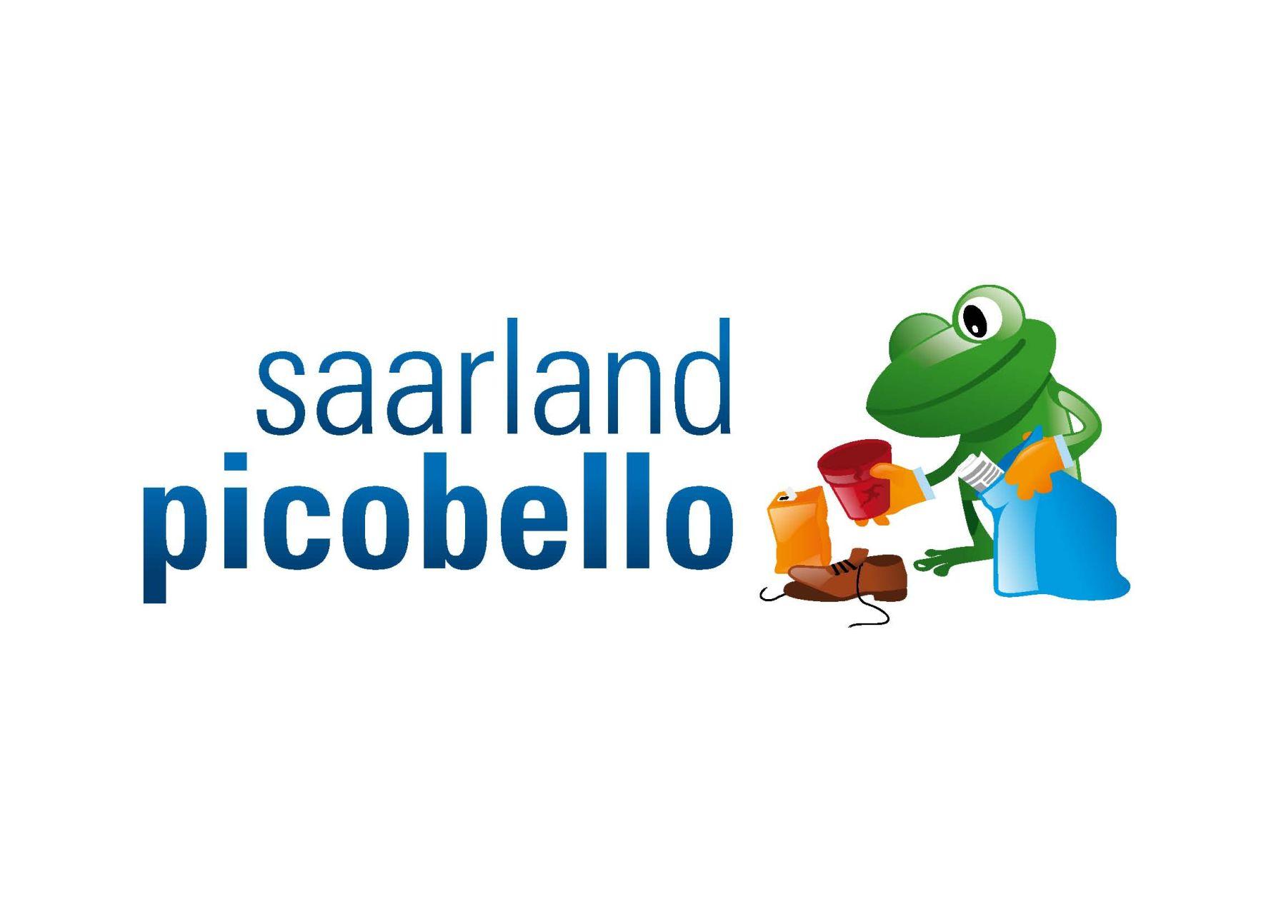 picobello Froschillustration mit Logo