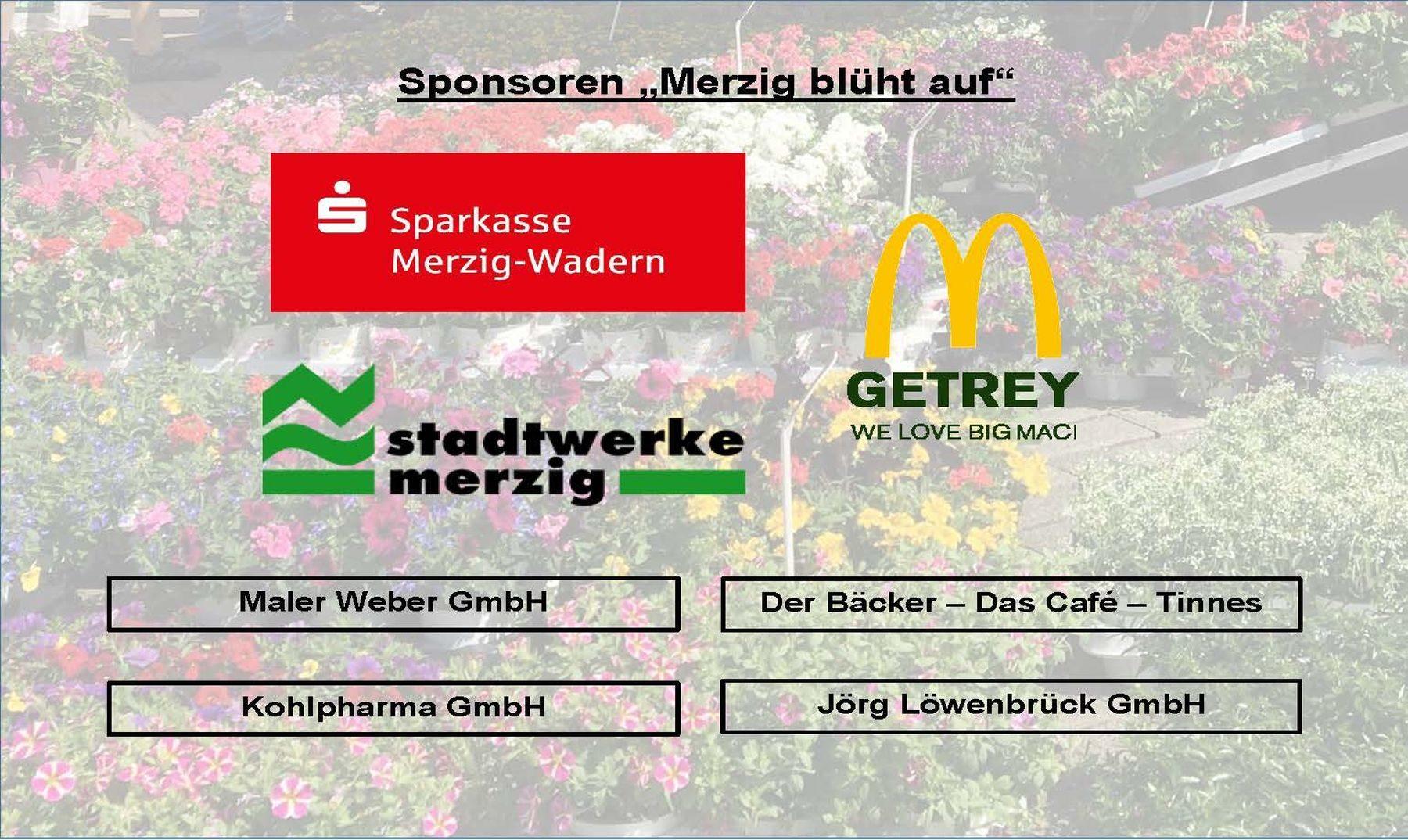 """Sponsoren """"Merzig blüht auf"""" 2019"""