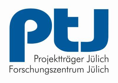 Die Grafik zeigt das Logo des Projektträgers Jülich/Forschungszentrum Jülich.