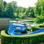Rutsche im Naturbad Heilborn
