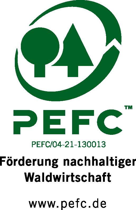 Das Bild zeigt das P-E-F-C-Logo.