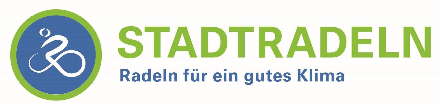 Die Grafik zeigt das Stadtradeln-Logo. Darauf ist zu lesen: Stadtradeln. Radeln für ein gutes Klima.